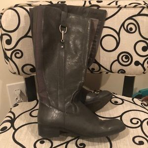 Gray Life Stride Faux Leather Tall Boot Size 8